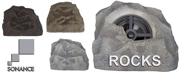 колонки в виде камня